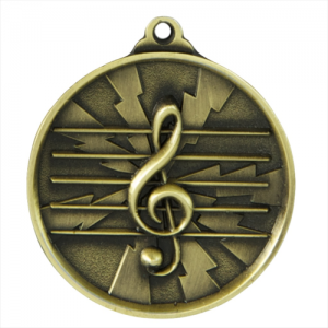 1070-MUSIC-G Music Medal 50mm