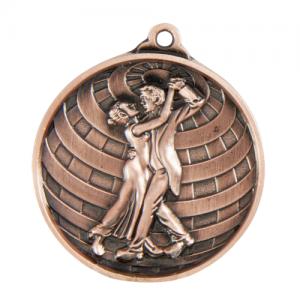 1073-19BR Dance Medal 50mm