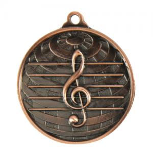 1073-44BR Music Medal 50mm