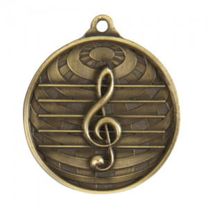 1073-44G Music Medal 50mm