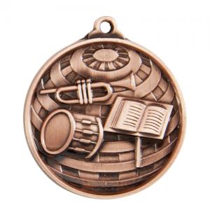 1073-45BR Music Medal 50mm
