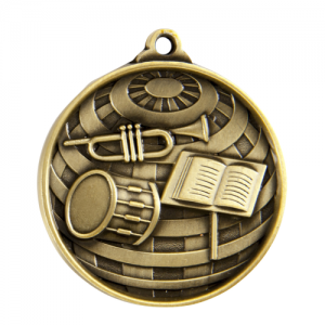 1073-45G Music Medal 50mm