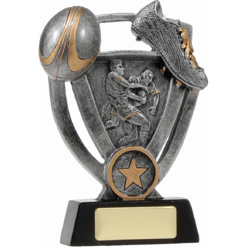 12739L Rugby Trophy 150mm