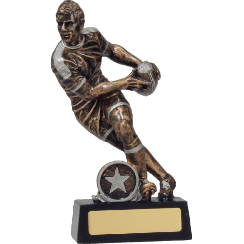 14113C Rugby Trophy 190mm