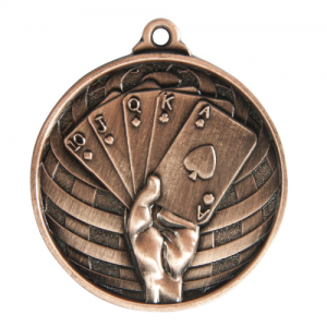 1073-54BR Poker, Cards Medal 50mm