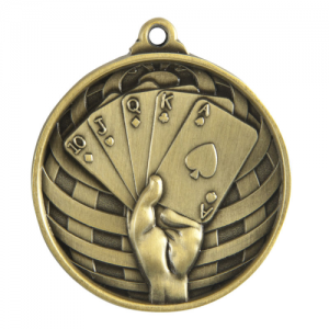 1073-54G Poker, Cards Medal 50mm