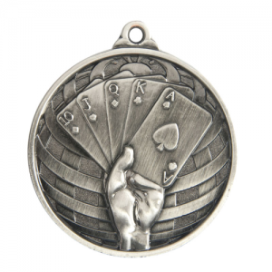 1073-54S Poker, Cards Medal 50mm