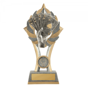 11B-FIN54G Poker, Cards Trophy 200mm