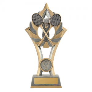 11C-FIN57G Badminton Trophy 230mm