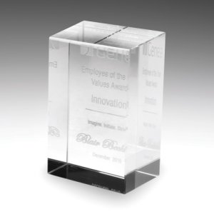 CB100 Crystal Trophy 60x60x100mm high