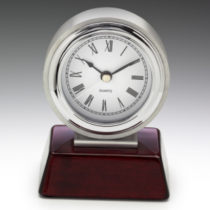 CL125 Atlas Chrome Clock 125mm