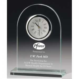 CL1511 Glass Clock 165mm