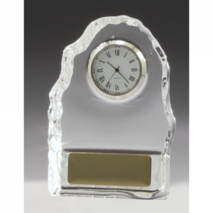 CL431 Crystal Iceberg Clock 110mm